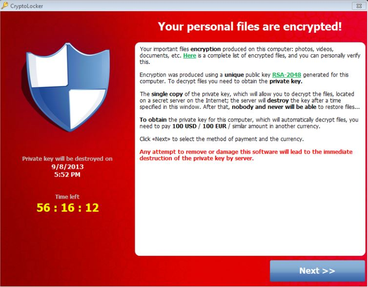 Remove CryptoLocker Virus